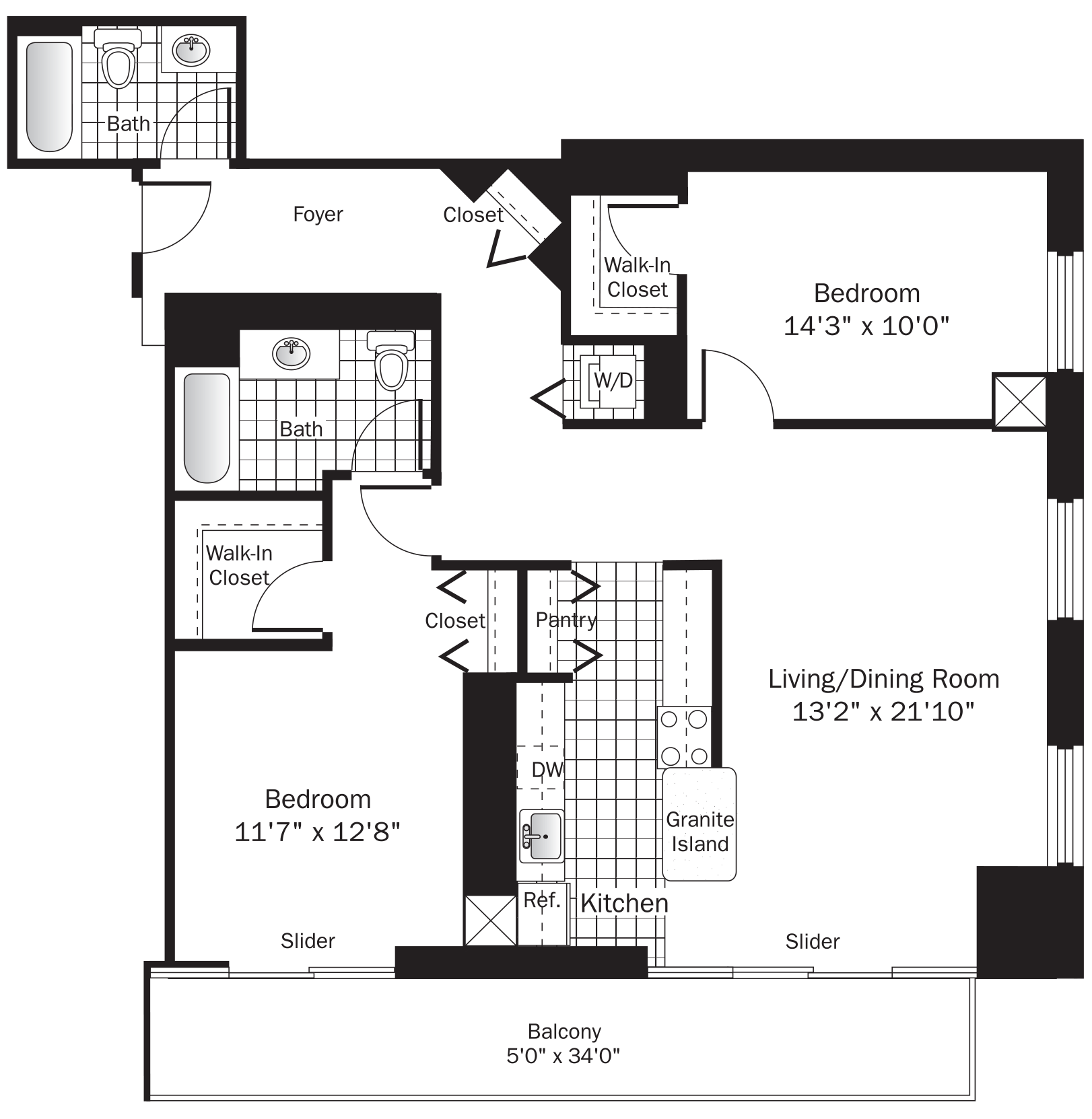 Chicago River North Apartments | Grand Plaza Apartments on chicago theater seating layout, chicago brownstone floor plans, chicago loft floor plans, london row houses floor plans,